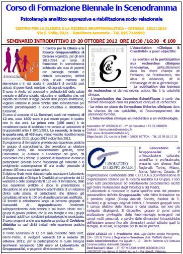Corso Formazione Scenodramma 2012-2013