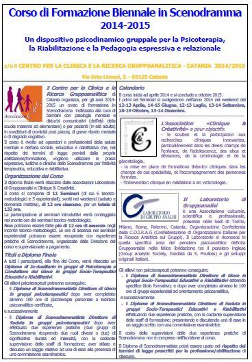 Corso Formazione Scenodramma 2014-2015